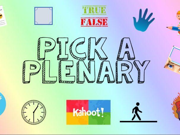 Pick a Plenary Powerpoint