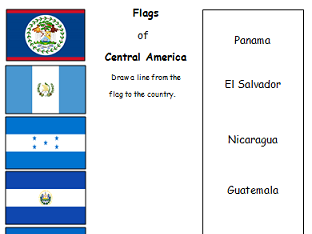 Flags of Central America - Match the flag to the country