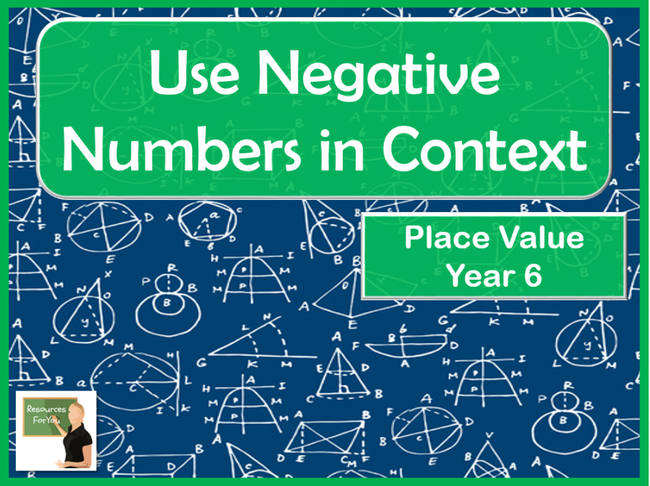 Maths-Using negative numbers in context- Year 6