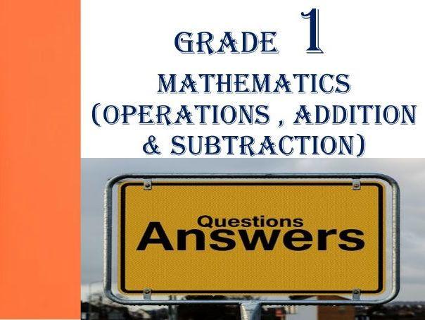 Grade 1 MATHEMATICS QUESTIONS & ANSWERS 2