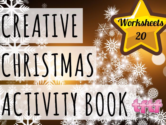 Christmas Worksheets Creative Activity Book  - 20 Christmas Worksheets