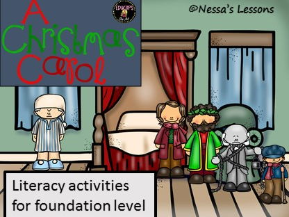 A Christmas Carol - Adapted -  literacy activity bundle
