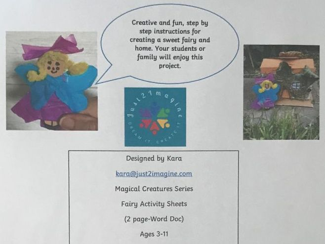Fairy and Home Activity Sheets