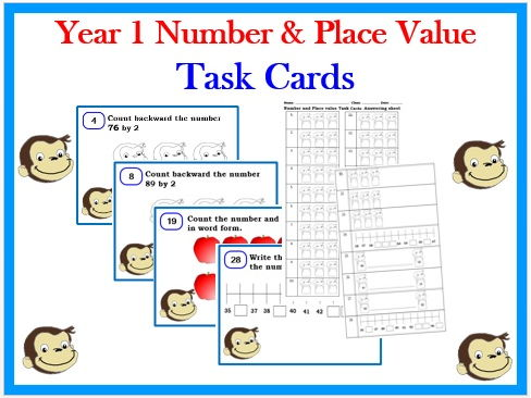 Year 1- Number & Place Value Task cards