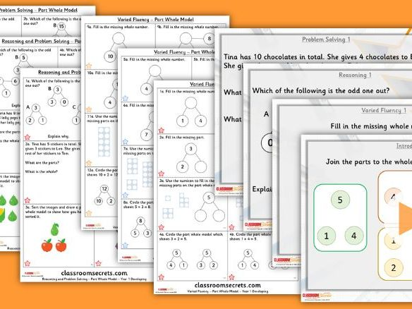 FREE Year 1 Part Whole Model Autumn Block 2 Step 1 Maths Lesson Pack