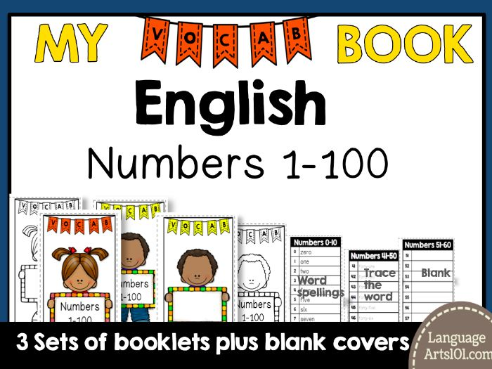 Vocabulary Booklet Numbers 1-100 English | Vocab Book 1-100 Numbers English