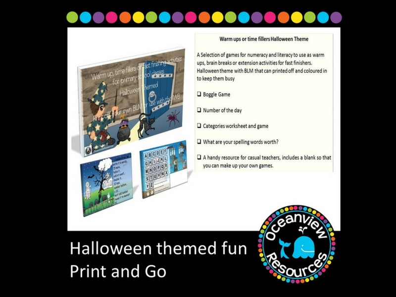 Halloween Themed brain break, fast finishing or extension activity