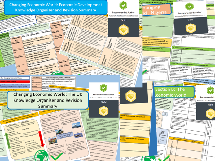 Revision Support, Economic World Bundle. AQA 9-1