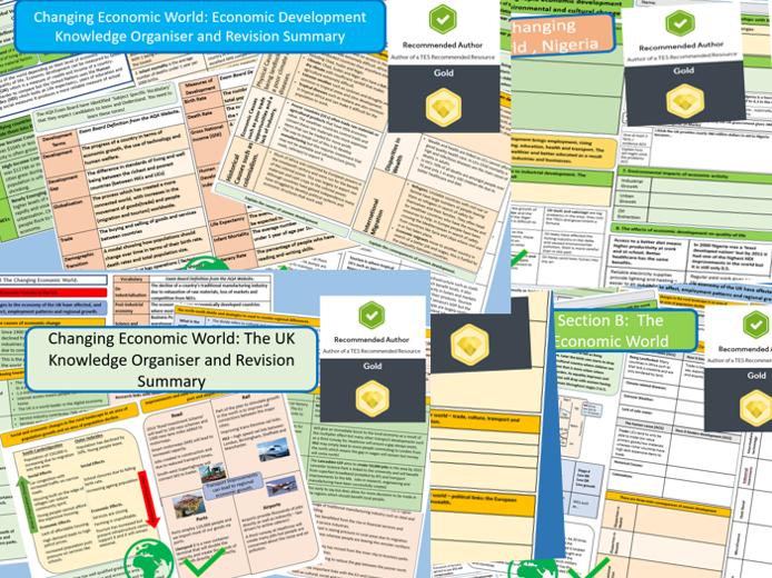 Revision Support, Economic World Bundle. AQA 9-1