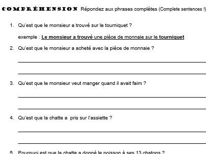 Comprehension Workbook Package and Activities for Un Monsieur Tout Tordu by: Russell Punter