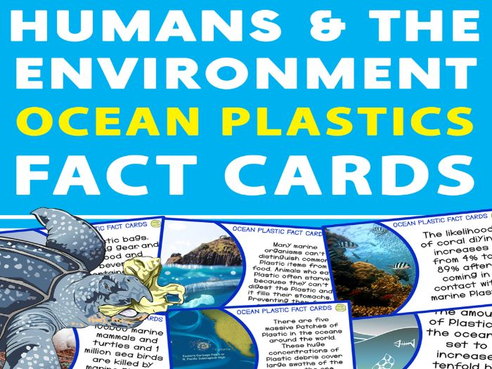 Ocean Plastics Fact Cards