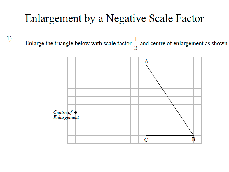 GCSE Maths Revision Enlargement Negative Scale Factors