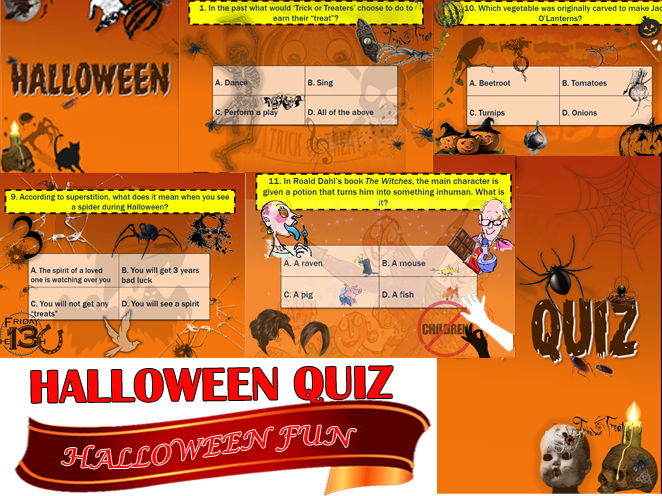 AWESOME HALLOWEEN QUIZ! A SUPERB TUTOR TIME QUIZ!