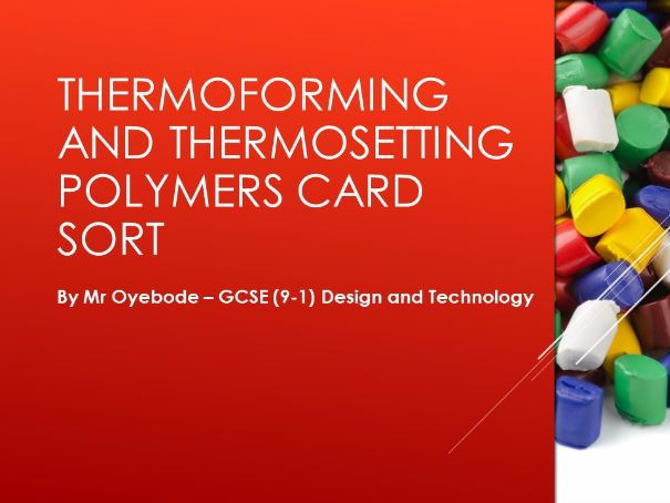 Thermoforming and Thermosetting Polymers Card Sort