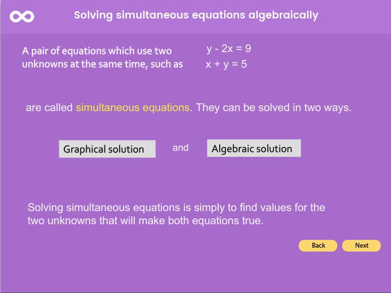 Simultaneous Equations - GCSE (1-9)