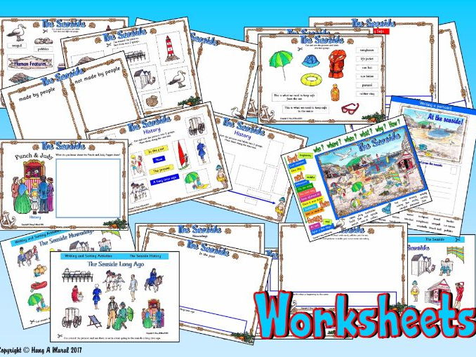 The Seaside KS1 -  Worksheets