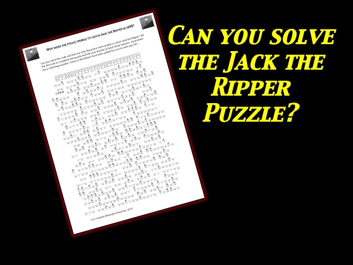 Why couldn't the police catch Jack the Ripper in 1888? Cryptogram Puzzle