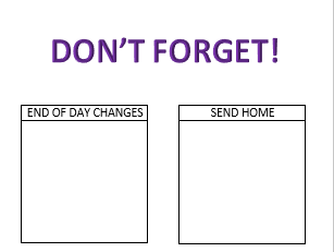 Don't Forget List