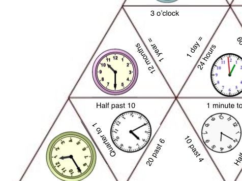 Time Tarsia Puzzle - Ideal for KS2