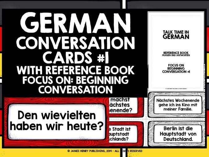 GERMAN CONVERSATION CARDS #1