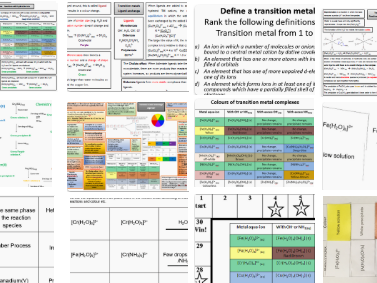 Transition metals SoW and revision bundle