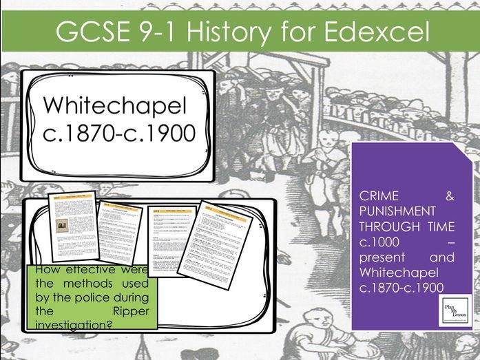 Edexcel GCSE Crime . Whitechapel L6:How effective were police methods during Ripper investigation?