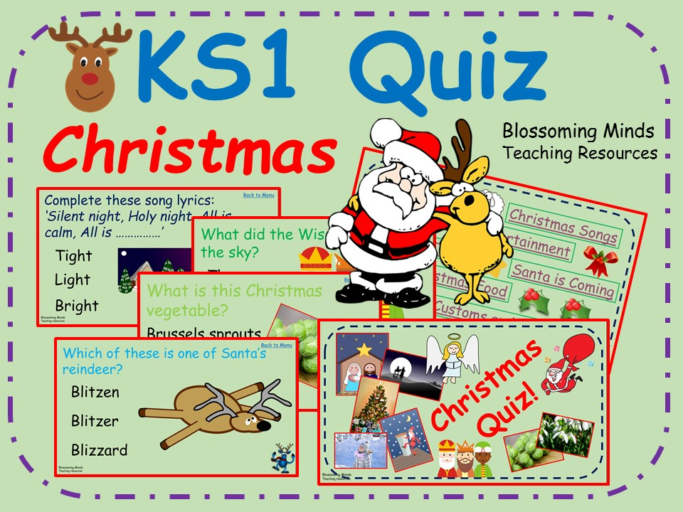 KS1 End of Term Christmas Quiz - 80 questions