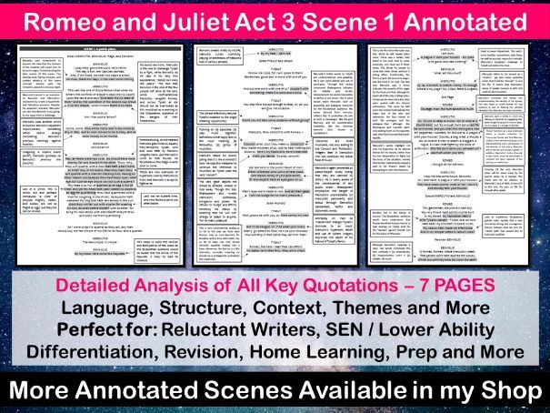 Romeo and Juliet Act 3 Scene 1 Annotated