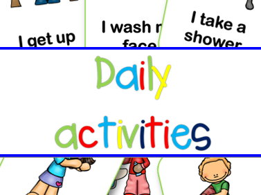 Daily activities flashcards