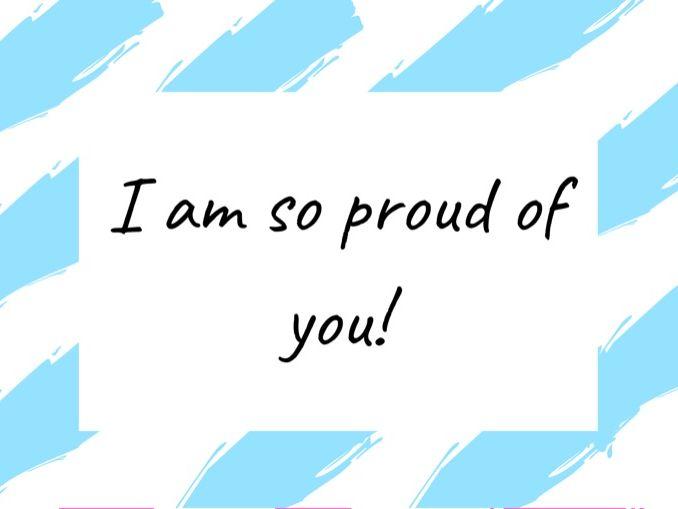 I'm so proud of you! - Digital Certificate