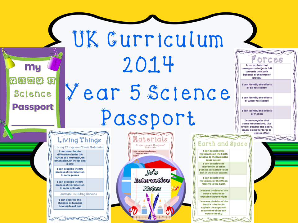 Year 5 National Curriculum Science Passport