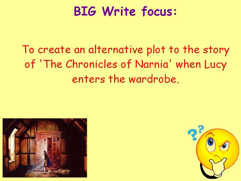 Year 6 Independent Fiction Writing Stimulus Pack - Secret Door/Narnia