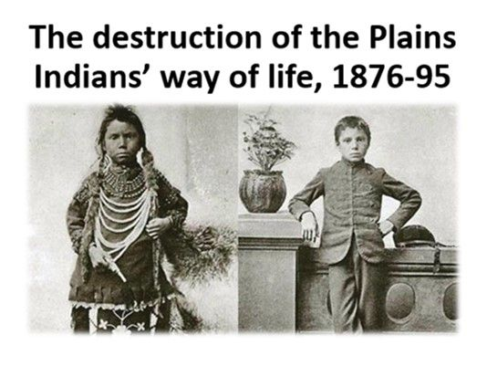 The destruction of the Plains Indians' way of life, 1876-95