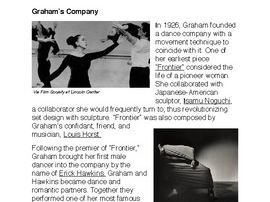 The Shapers of Dance: Martha Graham