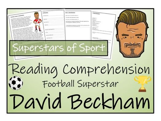 UKS2 Literacy - David Beckham Reading Comprehension Activity