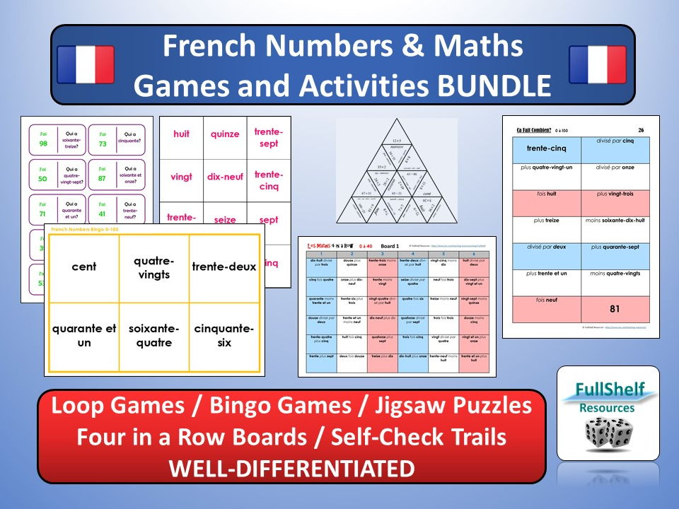 French Numbers (Les Nombres) Games