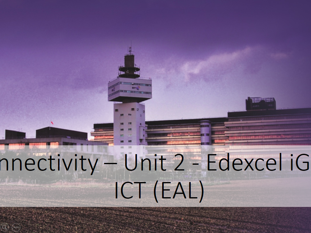 ICT - iGCSE - Edexcel - Unit 2 Connectivity