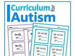 One Step & Two Step Equations Worksheets (with Scaffolding) Autism, Special Education, SEND