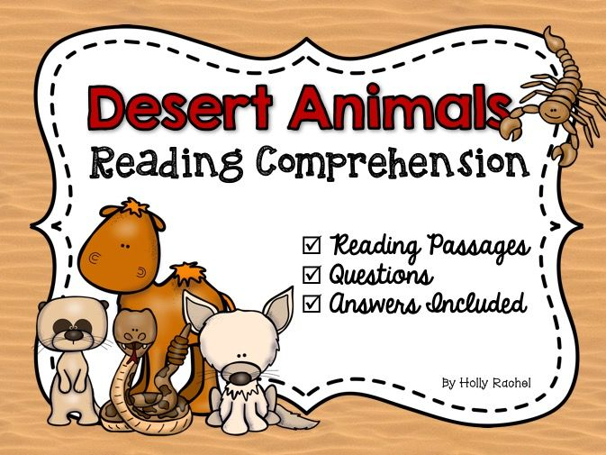 Desert Animals Reading Comprehension