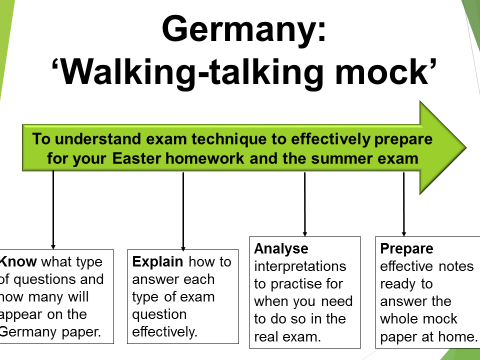 Weimar and Nazi Germany Edexcel 9-1 Walking-talking mock (Exam technique)