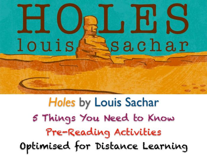 Holes (Louis Sachar) - 5 Things You Need to Know - Pre-Reading ACTIVITIES