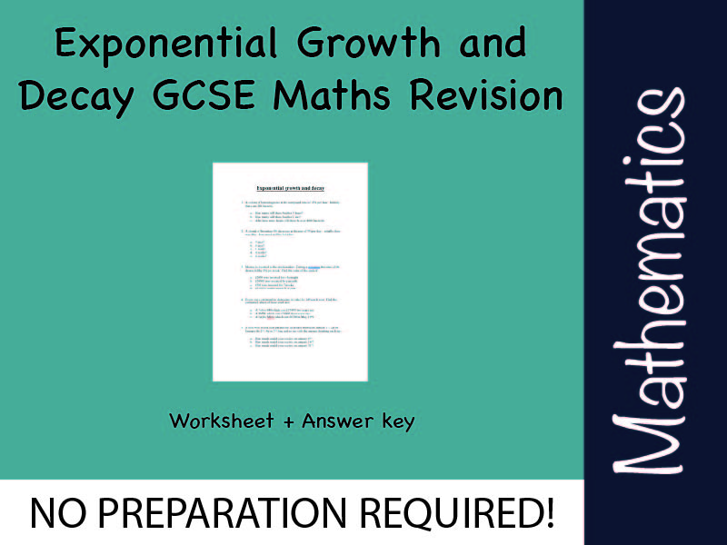 Exponential Growth and Decay GCSE Maths Revision