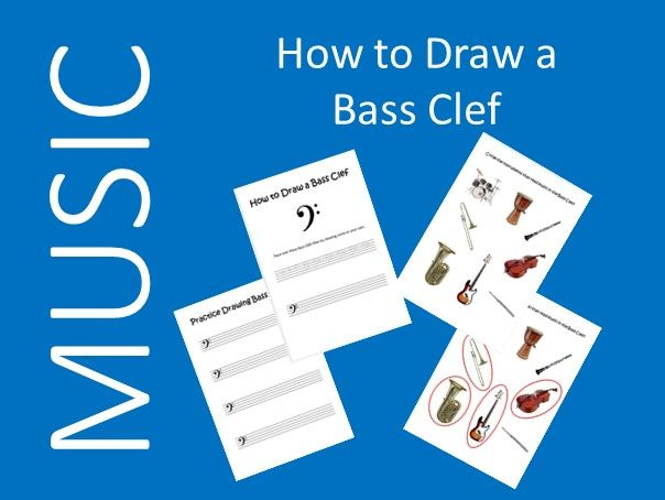 How to Draw A Bass Clef - Music Distance Learning