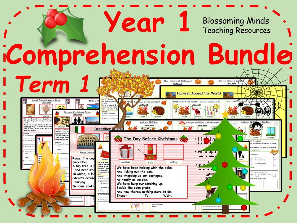 Year 1 comprehension bundle - Term 1 (Autumn and Christmas)