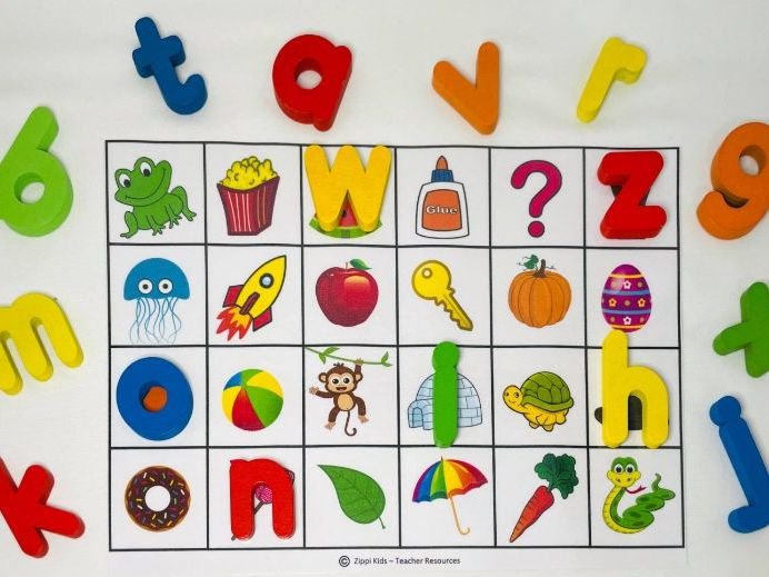 Letter Beginning Sounds Match and Alphabet Tracing - Cover it   FREE