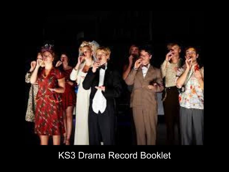 KS3 Drama record booklet