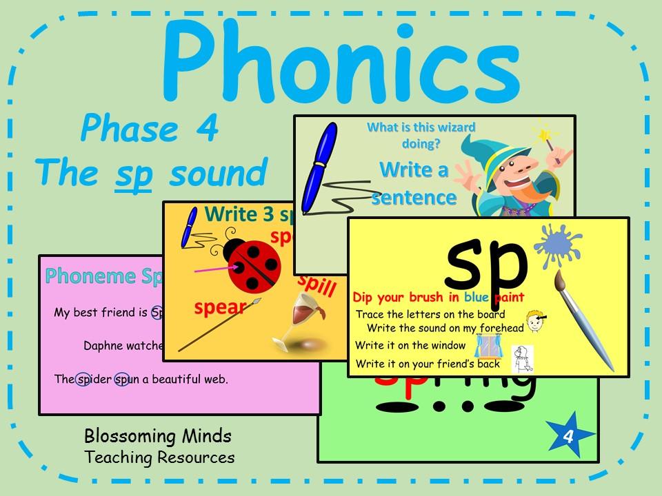 Phonics phase 4 - Consonant blends - The 'sp' sound