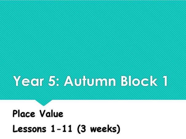Year 5: Autumn Block 1 Place Value following White Rose Maths