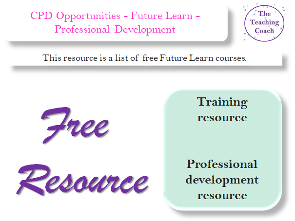 FREE CPD Opportunities - Set 2 - Future Learn - Professional Development