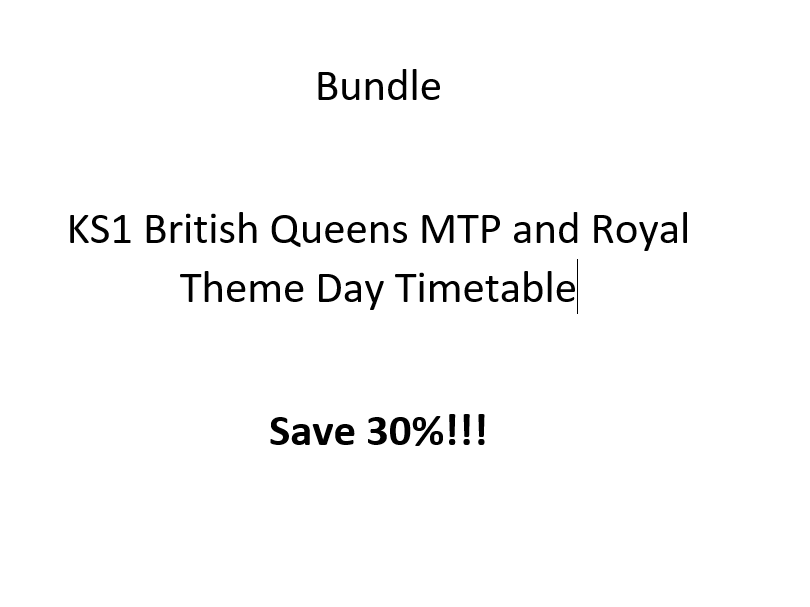 KS1 British Queens MTP and Royal Theme Day